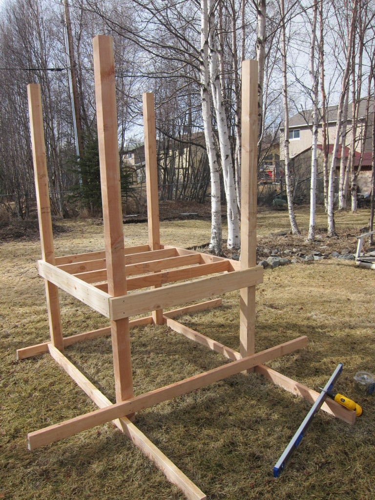 DIY chicken coop - step 1