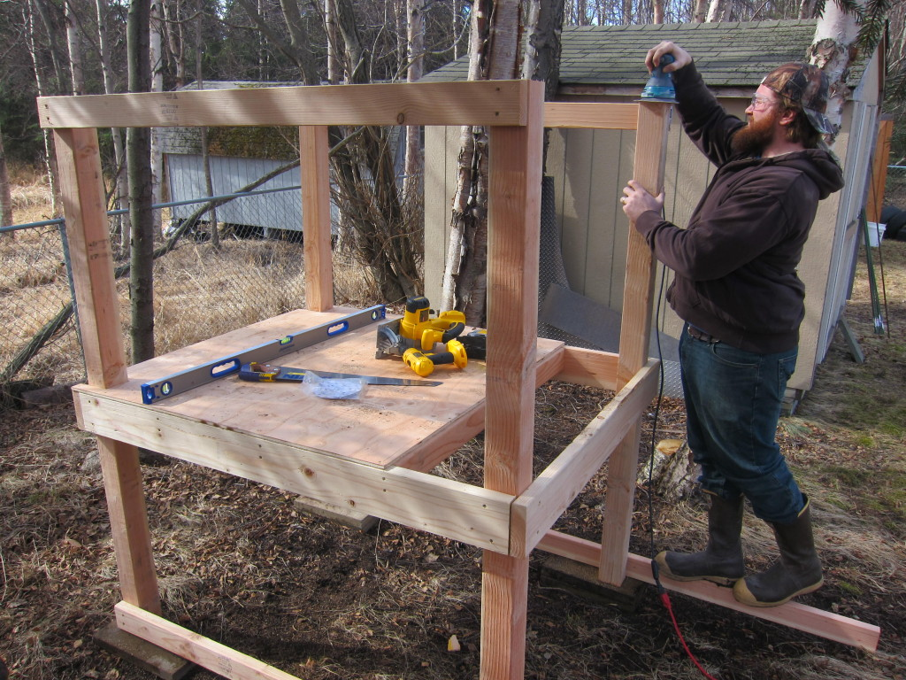 DIY chicken coop - step 2