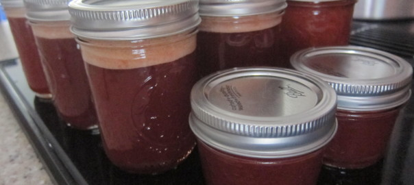 sealed jars of homemade crabapple jam