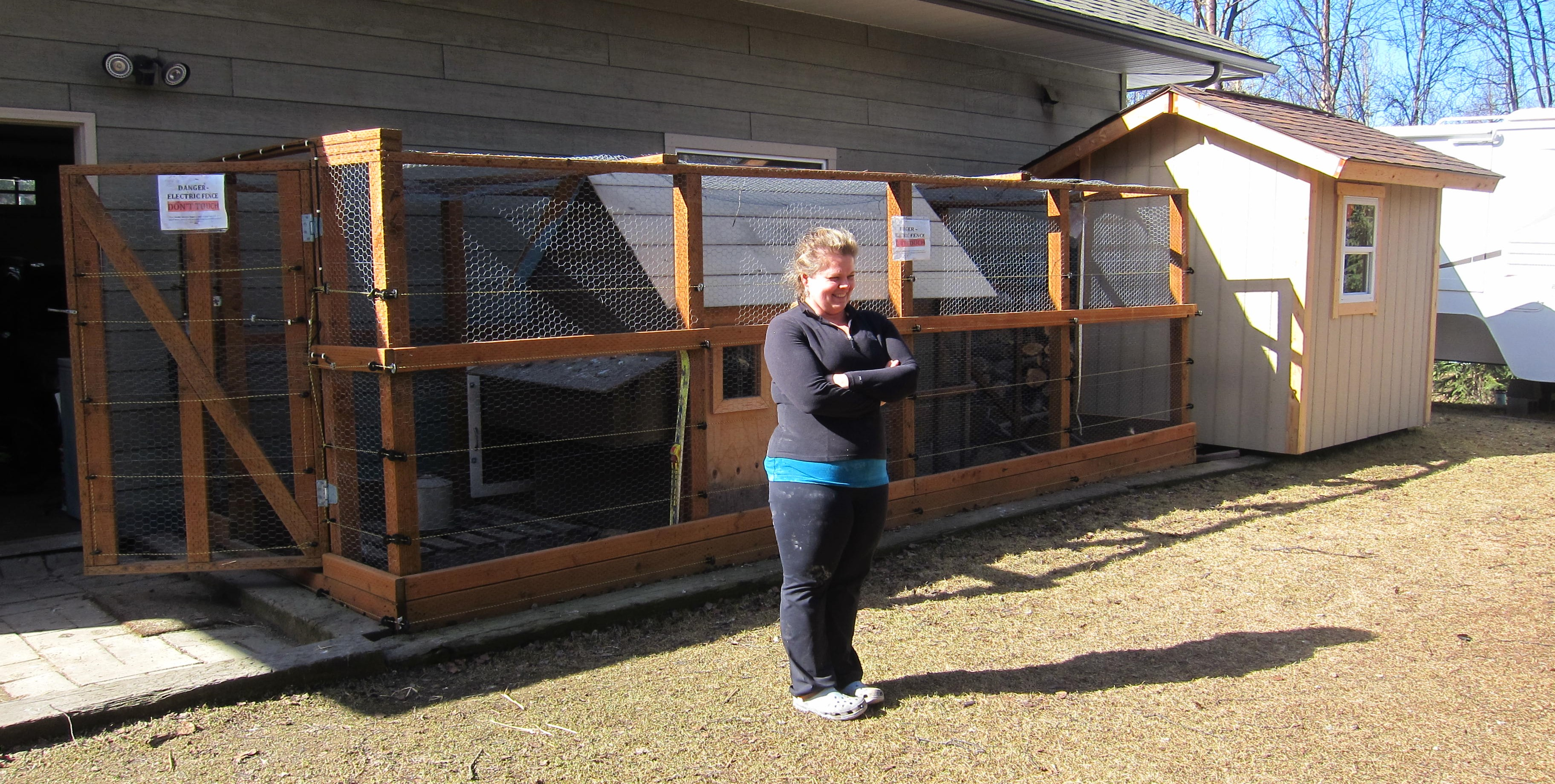coop with electric bear fence