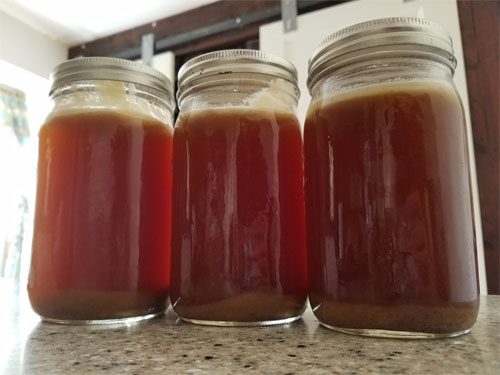 caribou heart and bone broth jars