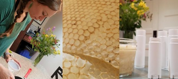 Raw Beeswax Comb Chapstick How-To