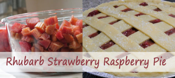 Rhubarb strawberry raspberry jam pie recipe